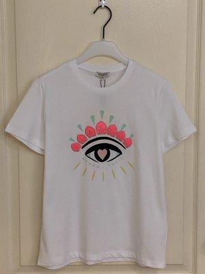 全新超美  Kenzo Jain eye embroidered T-shirt  12A 現貨