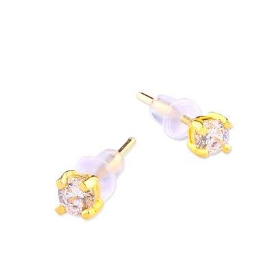 【JHT 金宏總珠寶/GIA鑽石】0.27錢 鑽石黃金耳環【價格依當日金價計算 (請來電洽詢)】