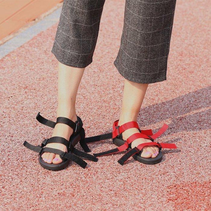創意 夏季 正韓新進口越南鞋情侶涼鞋韓版原宿ulzzang百搭布帶學生沙灘鞋男女鞋