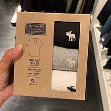美國AMPM Abercrombie Fitch 麋鹿 AF 男士 棉質純色打底套裝短袖T恤 三件裝 限量超值折扣優惠