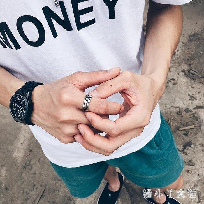 潮人戒指男士個性復古麻繩指環霸氣學生禮物戒子開口 XW1307