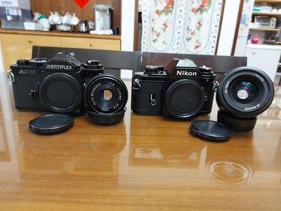 Nikon EM + 35-70,Revueflex AC2+45mm F2.8