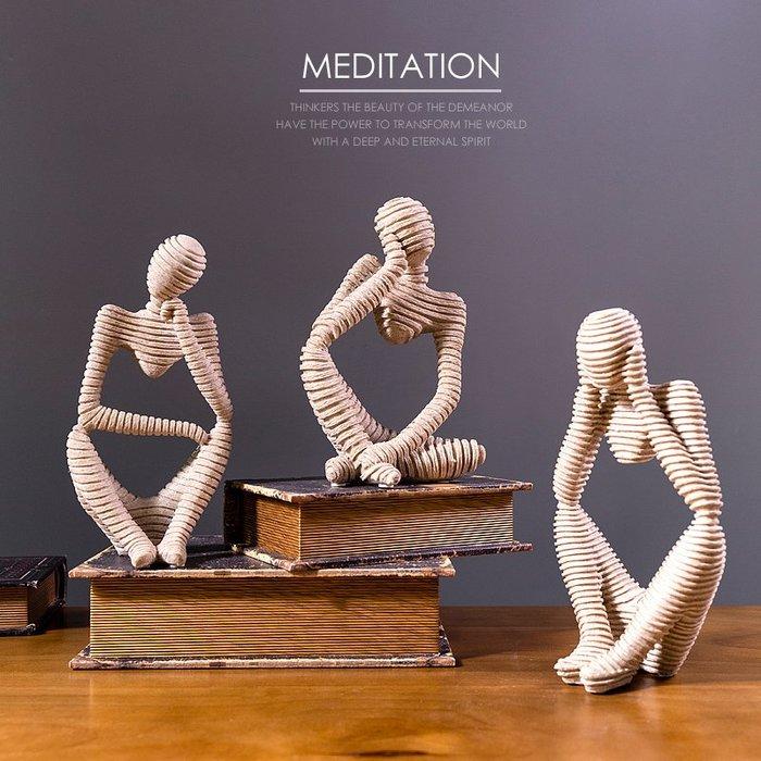 〖洋碼頭〗北歐沉默是金抽象雕塑酒櫃裝飾擺件創意現代簡約個性辦公桌小擺設 fjs319