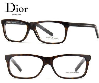 Dior Homme►Blacktie (深琥珀色×金屬銀色) 方框 眼鏡 光學鏡框 中性款|100%全新正品|特價