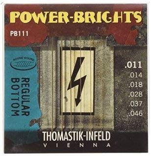 Thomastik Infeld 電吉他弦 (Power Brights PB系列: PB111(0.11-0.46)