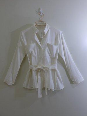 正韓 BLESS 米白色時尚雅緻外套式襯衫