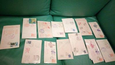 中華民國47, 48, 49年各種紀念信封 , 蓋紀念郵戳, 貼莒光樓或光復大陸郵票, 共25個