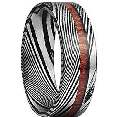 coi jewelry tungsten carbide damascus wood wedding band ring 戒指all sizes