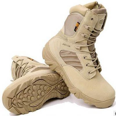 【軍靴-高幫-真皮-1雙/組】戶外軍靴種兵作戰戰術靴沙漠靴高幫耐磨陸戰-7670701