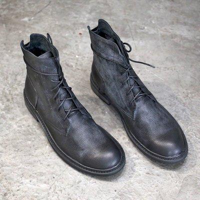 運動休閒鞋館~馬丁靴男高幫春季2020新品男鞋皮靴男英倫風機車靴真皮復古工裝靴