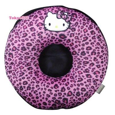 東京家族 kitty 枕頭  車用品 豹紋款