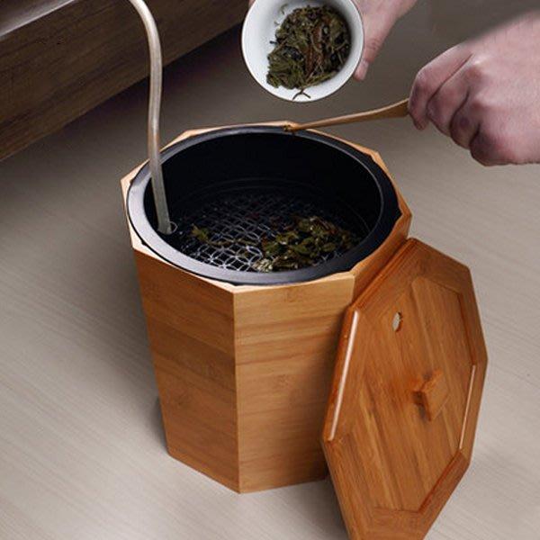5Cgo【茗道】含稅會員有優惠   40085308279 竹制茶水桶茶渣桶垃圾桶茶桶蓄水排水接水桶功夫茶具茶道配件