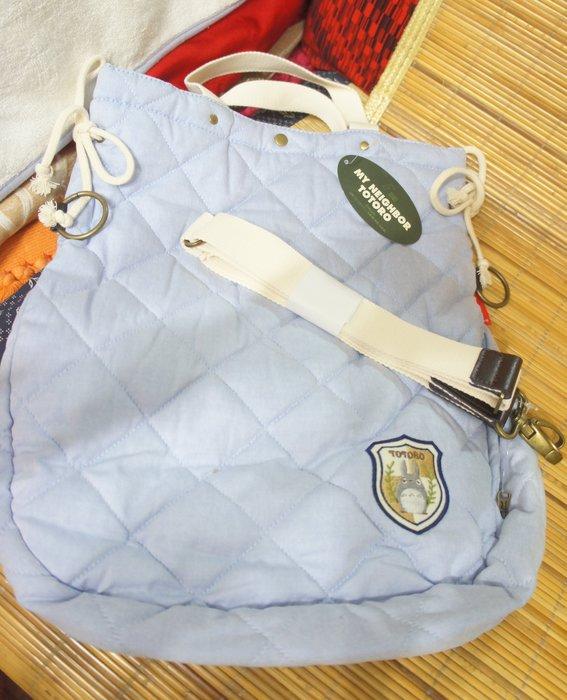 ( 全新有掛牌 - 正品) 日本購入- 龍貓淺藍色肩背包/手提