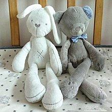 貴族兔子嬰兒安撫伴睡玩偶小兔子小熊毛絨安 九歌