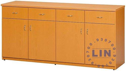 【品特優家具倉儲】A964-07收納櫃DA-441塑鋼餐櫃收納櫃木紋
