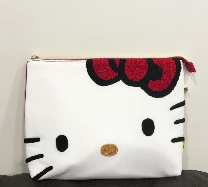^燕子部屋 ^ 三麗鷗正版 【Hello Kitty】可愛臉型手拿包  ipad包(特價)