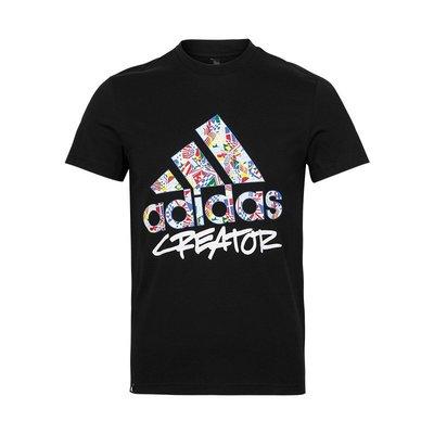 南◇2019 8月 Adidas FIBA Badge of Sport 短 Tee 黑色DX6891 白色DX6892