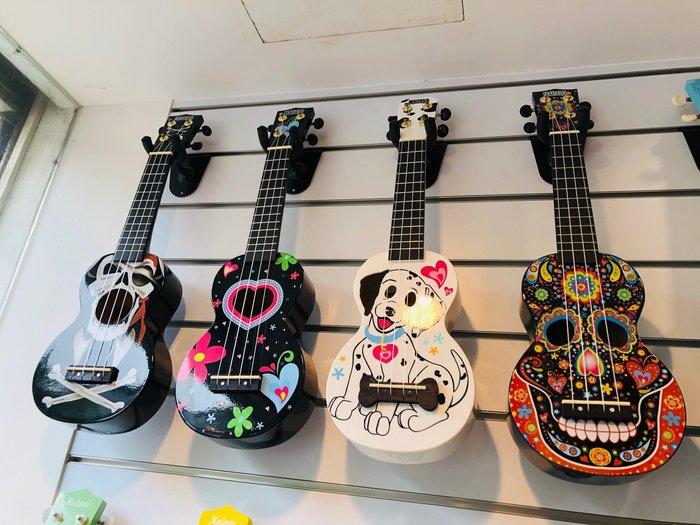 【六絃樂器】全新 Mahalo Skull Black ukulele 21吋烏克麗麗 / 現貨特價