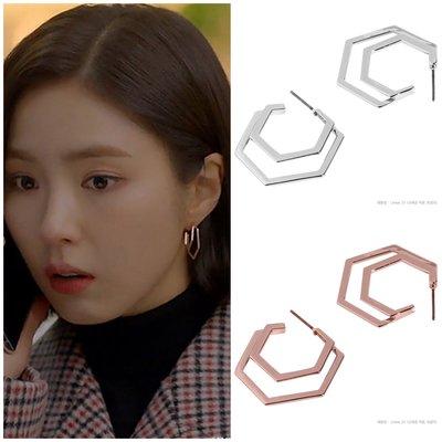 【韓Lin連線代購】韓國 GET ME BLIN- 明星同款抗敏925銀針耳環 LINEAR