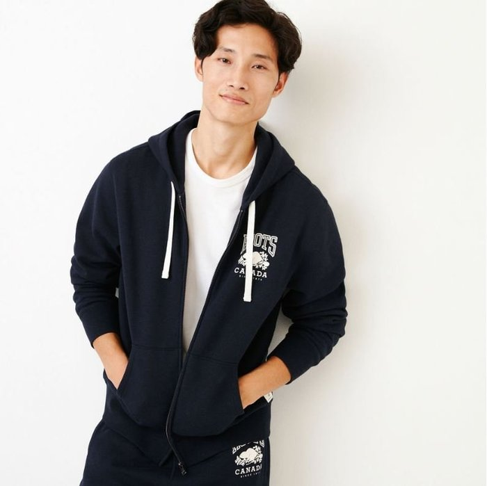 ~☆.•°莎莎~*~~☆~加拿大 ROOTS MENS Classic Full Zip Hoody 連帽外套~