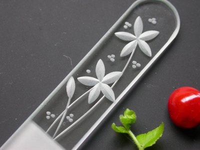 【草西雜貨】#清倉特賣#捷克玻璃指甲挫刀(強化玻璃)*雕刻圖案二*