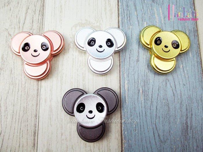 ☆[Hankaro]☆ 流行可愛熊貓金屬造型系列指尖陀螺手指陀螺