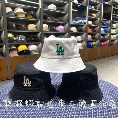 MLB 100%韓國代購 MLB 洋基帽 棒球帽 漁夫帽 32CPH3011-50L NY隱形字母底 黑色NY