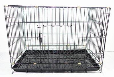 【優比寵物】2.5尺(雙門=正門+側門)活動褶疊式(黑色底盤)(密底腳踏網)靜電粉體烤漆兔籠、貓籠、狗籠、寵物籠/台灣製