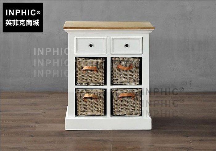 INPHIC-北歐現代簡約白色木櫃 玄關桌法美式清新風個性抽屜角櫃_S1910C