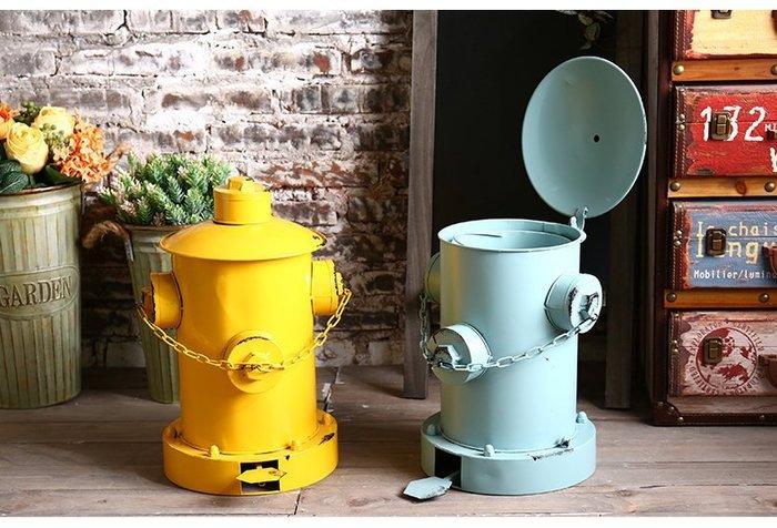 鐵製消防栓造型腳踩垃圾桶 美式鄉村工業風復古仿舊 模型懷舊風居家裝飾收納櫥窗陳列佈置【【歐舍家飾】】