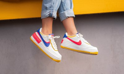 Nike Force 1 SHADOW AF1 雙勾 皮革 增高 拼接 白 黃 桃粉 紫勾 女鞋 CI0919-105