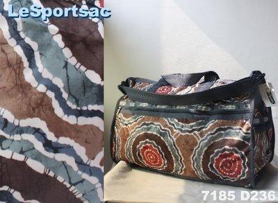 【LeSportsac】100% 全新正品 7286 D236 / BATIK 超大型 旅行袋*可拆式背帶*附收納袋*