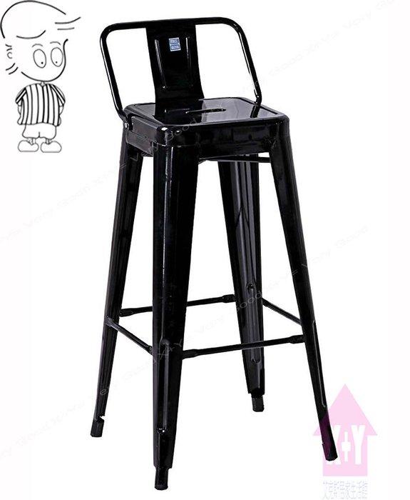 【X+Y時尚精品傢俱】現代吧檯椅系列-哈利 黑色加背高吧台椅.造型椅.適合餐廳用椅.噴漆防鏽鐵件.摩登家具