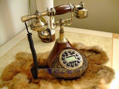 148 華城小鋪 古董 仿古 復古電話 鄉村 歐式 有線 來電顯示 造型 樹脂仿古銅T701