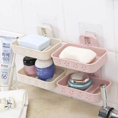 熱賣肥皂香皂盒衛生間浴室置物架吸盤壁掛...