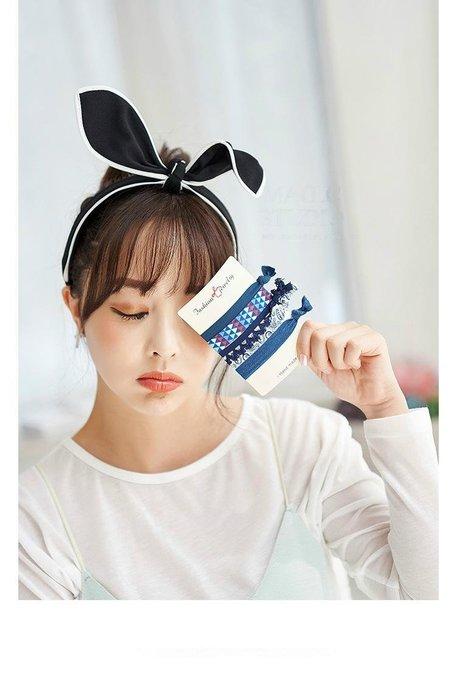 可愛兔耳朵 蝴蝶結 兔女郎 帶齒 髮箍 頭箍