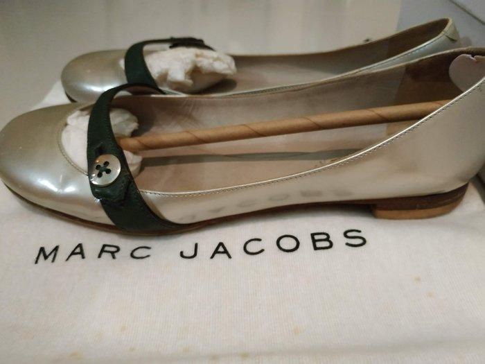 [二手真品出清] Marc Jacobs 義大利製 皮革 銀綠 35 原價18600元 芭蕾舞鞋 娃娃鞋 MJ18417