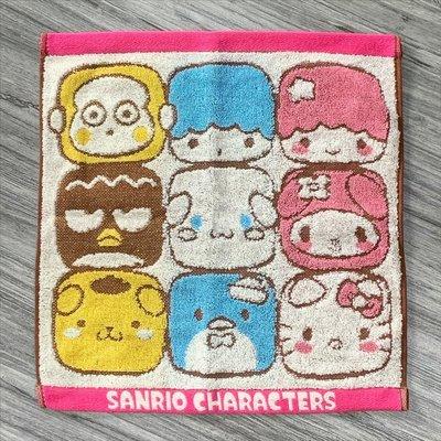 萬萬選物。日本亂亂買。現貨區。SANRIO CHARACTERS。三麗鷗。人物。系列。角色。棉製。方巾。毛巾