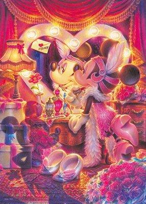 日本進口拼圖專賣店_500片 拼圖 迪士尼 米妮 愛在鏡子裡的眼睛 D-500-659