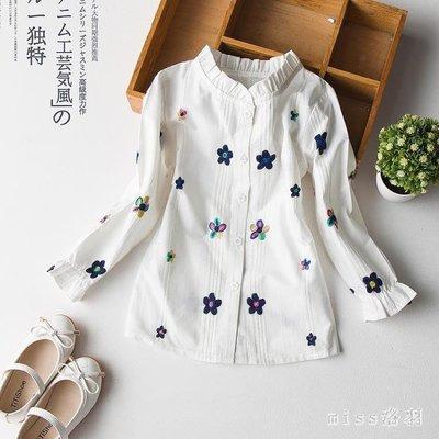 大尺碼新款女童裝兒童長袖上衣女大童襯衣中大童韓版襯衫 js9518