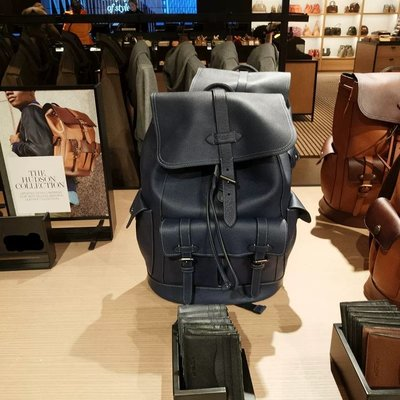 美國正品 琪琪OUTLET代購 COACH 23202 新款Hudson Backpack男士雙肩後背包 附購買憑證