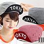=CodE= TOKYO CAP 翻帽沿白線條帆布軍帽(黑...