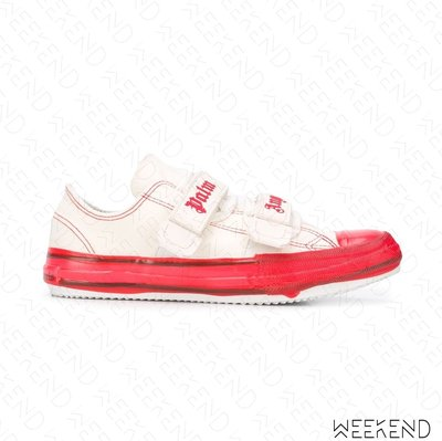 【WEEKEND】 PALM ANGELS Velcro Vulcanized 魔鬼氈 帆布鞋 休閒鞋 紅色 20春夏