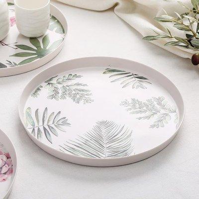 【居家必備 生活小助手】日韓進口廚具歐式圓形仿瓷塑料水果盤可可里百貨