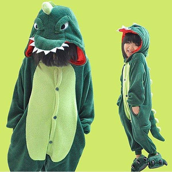 5Cgo【鴿樓】會員有優惠15648041282 兒童卡通連體睡衣 動物家居服 怪獸酷斯拉 恐龍