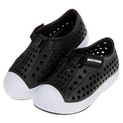 童鞋(13~16公分)SKECHERS黑色兒童洞洞休閒鞋N8L991D
