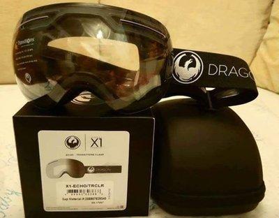 100% New 全新 Dragon X1 Transitions Lens Snow Goggles 全視線鏡片滑雪鏡