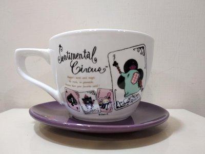 (全新已拆封)7-11 City cafe 深情馬戲團咖啡杯組 甜蜜午茶時光 黑桃撲克
