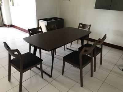 【新精品】全國 ck-01 工業風橡膠木6尺餐桌(不含椅跟其他商品)高雄-台北搭配車趟免運