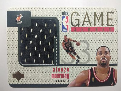 Alonzo Mourning 1997-98 Upper Deck Game Jersey GJ14首年球衣